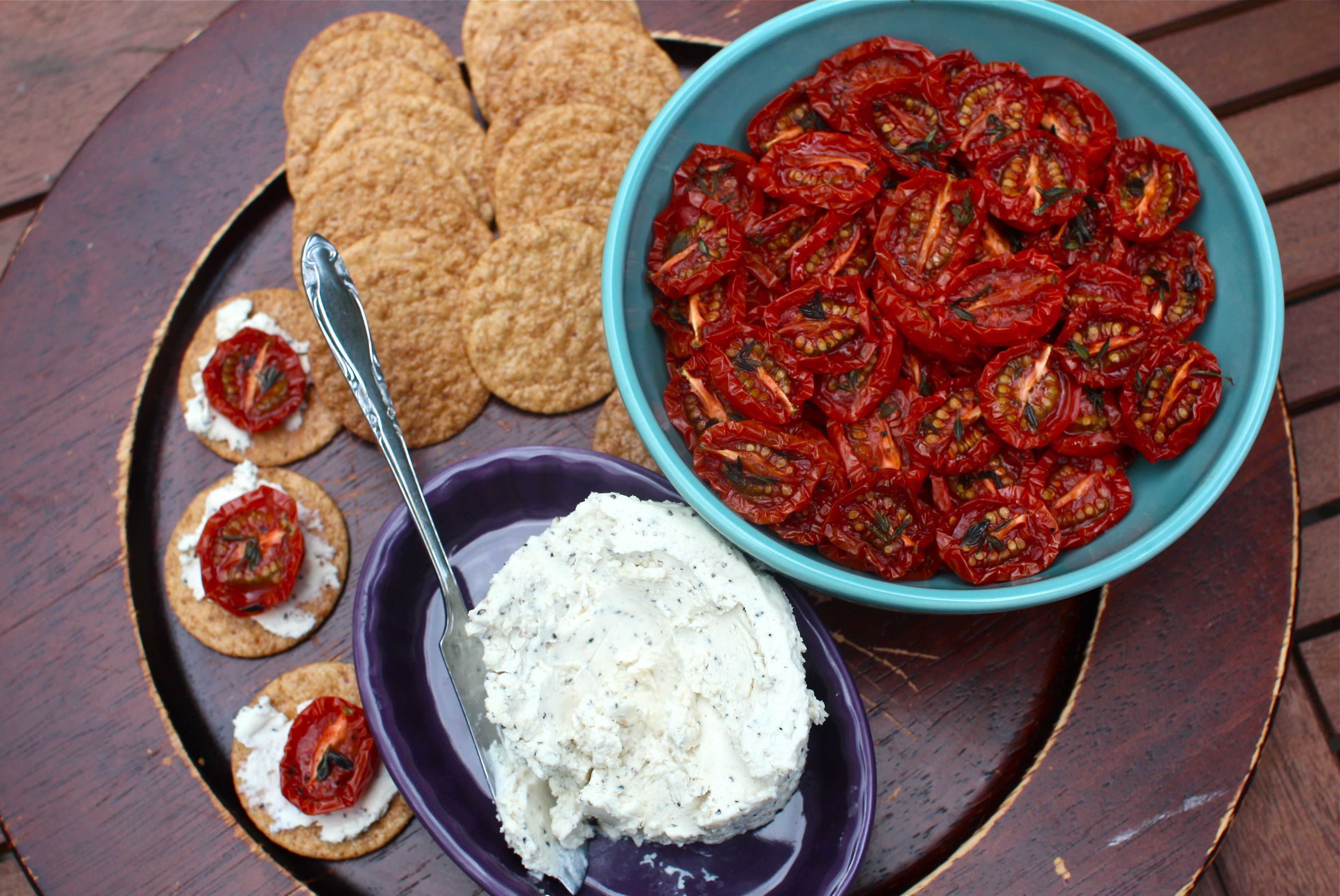 Slow roasted cherry tomatoes a simple summer appetizer for Dry roasted tomatoes