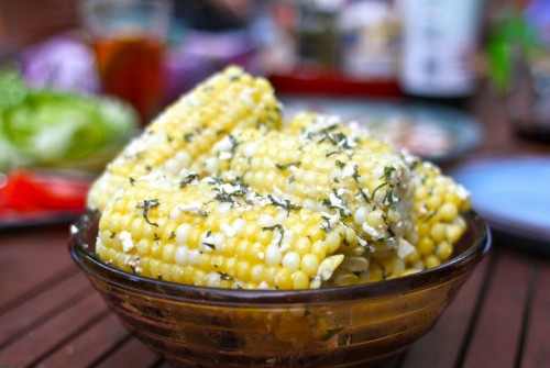Recipe: Corn on the Cob with Feta-Mint Butter