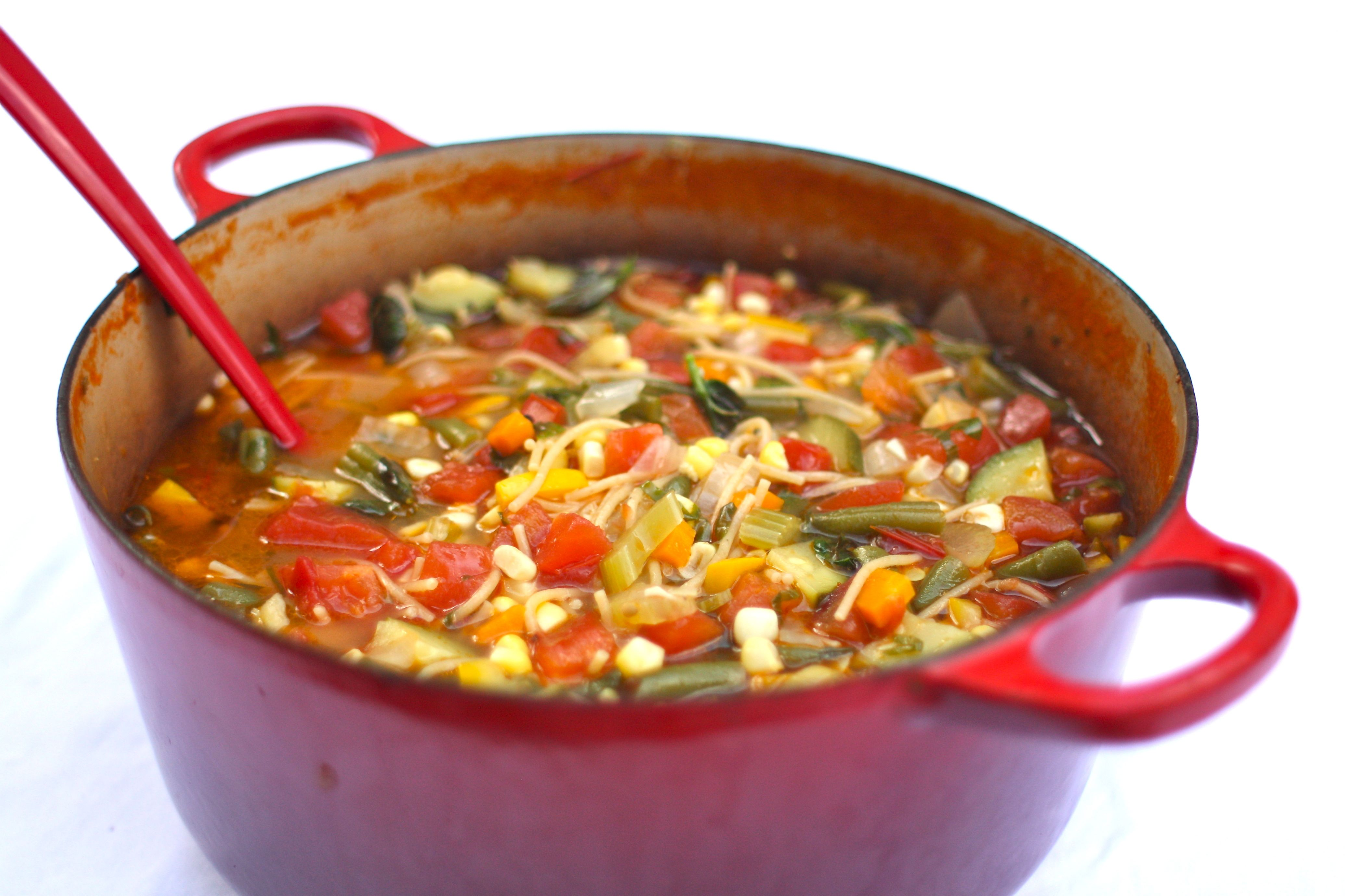 Hearty healthy late summer minestrone simple bites How to make healthy soup for dinner
