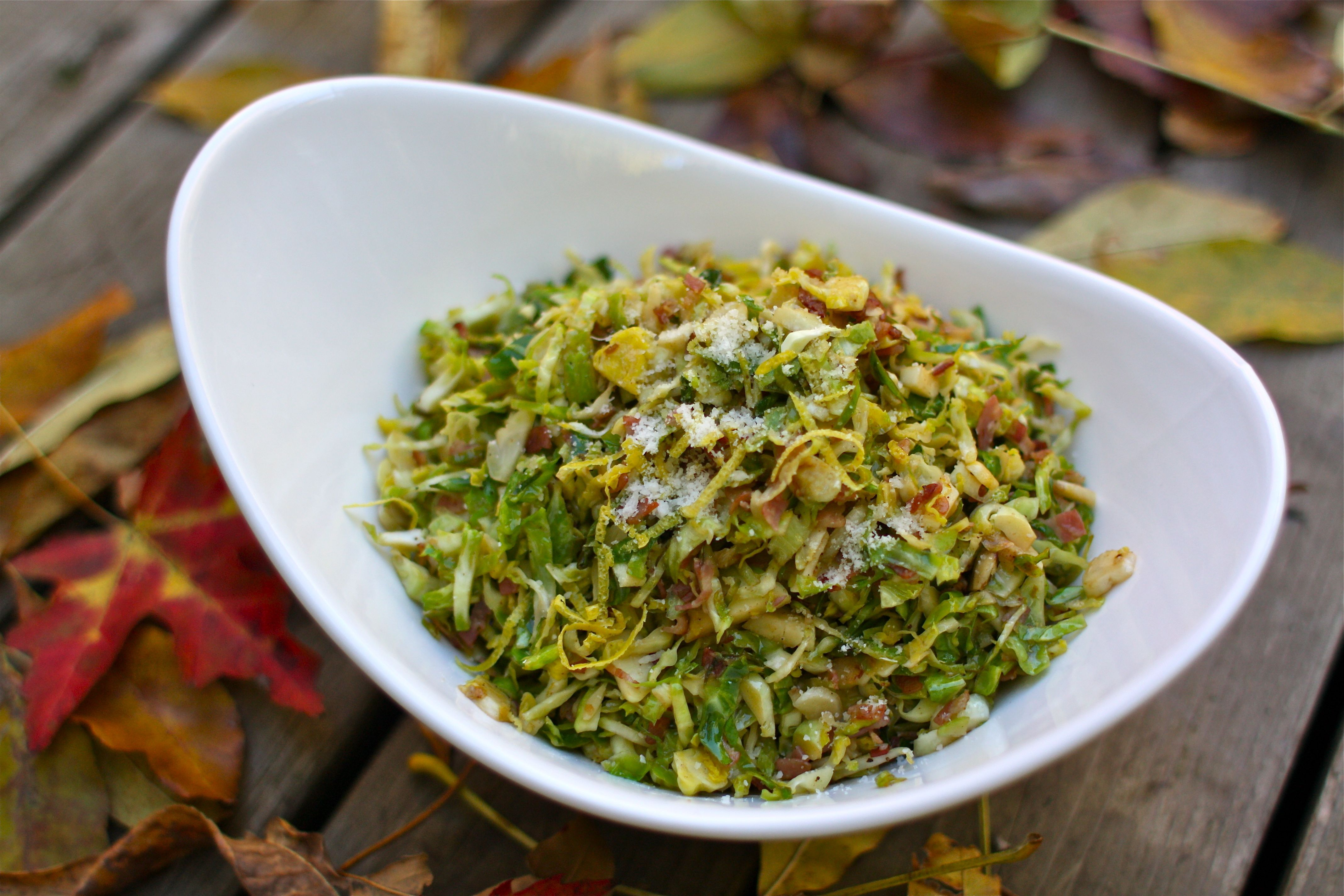 Stir-fried Brussels Sprouts with Lemon & Parmesan