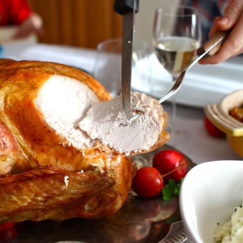 carving perfect roast turkey