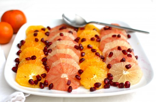 Citrus & Pomegranate With Vanilla Syrup: A Holiday Fruit