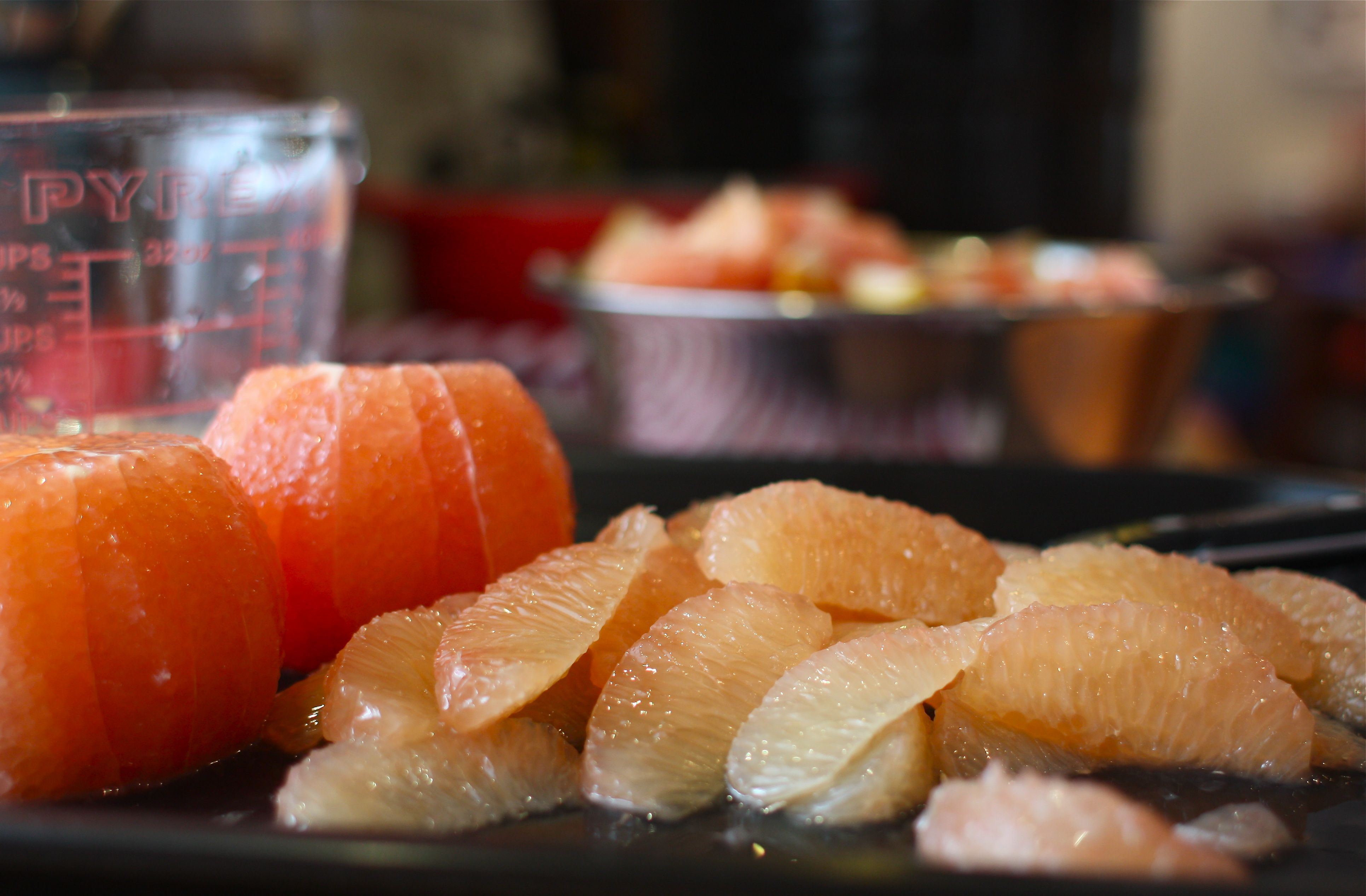 remaining peel and pith from the grapefruit. Finely chop grapefruit ...
