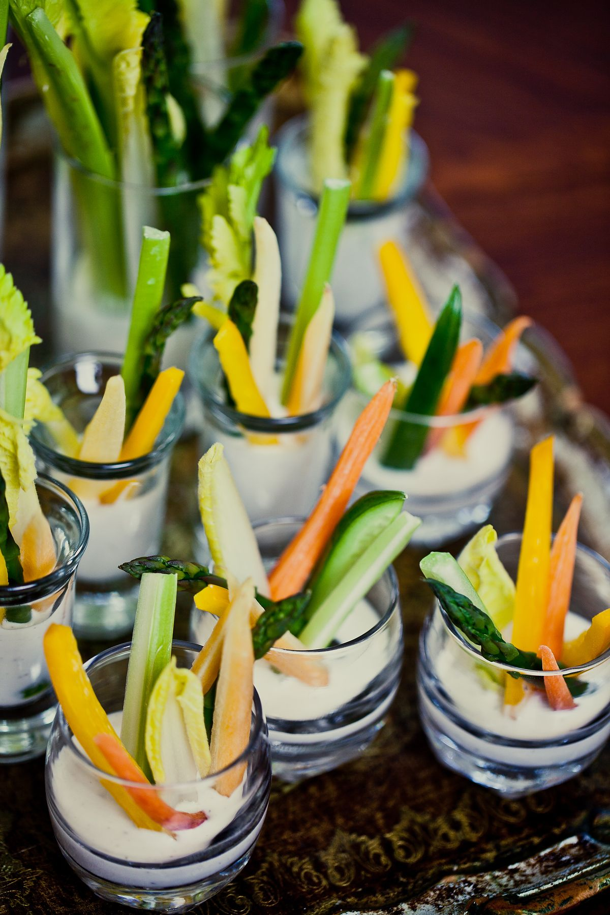 Spring Crudité & Buttermilk Pepper Dip Finger Food for a Baby