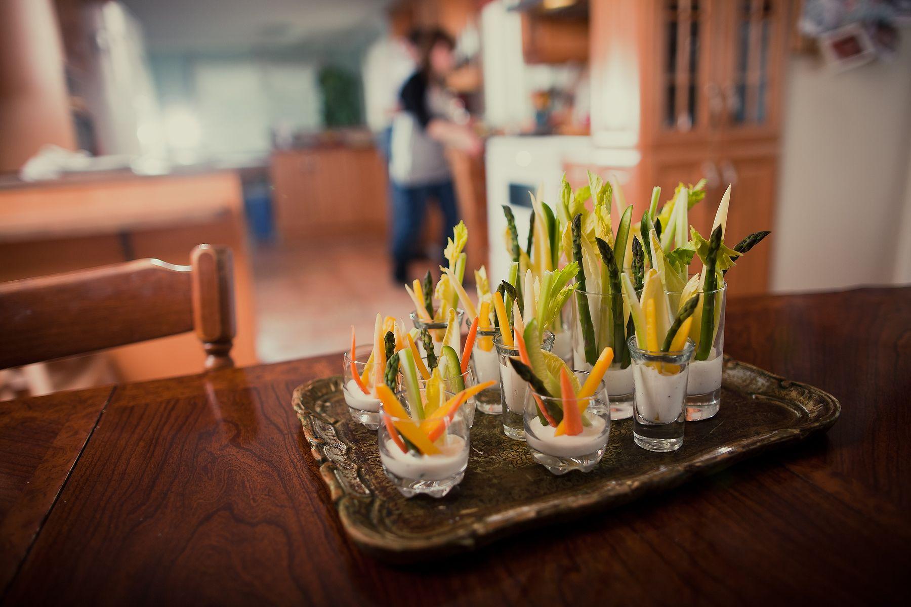 Spring Crudité & Buttermilk Pepper Dip Finger Food for a Baby