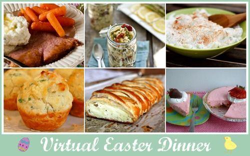 Weekend links virtual easter dinner menu simple bites for Easy easter lunch menu