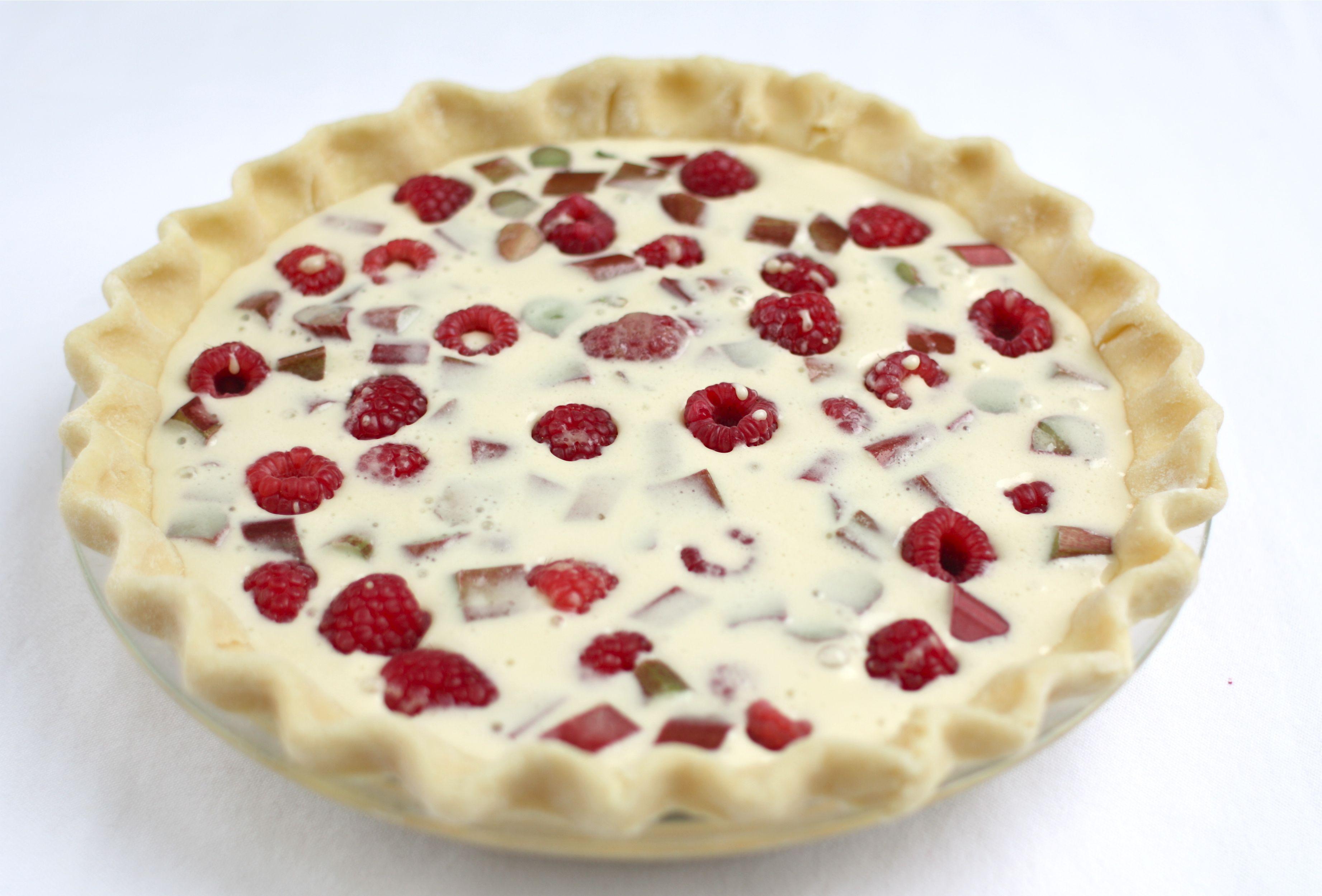 Rhubarb-Raspberry Cream Pie Recipe for a Pie Party   Simple Bites
