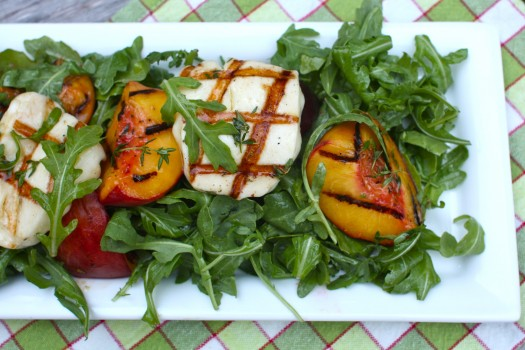 Grilling Fruit (Recipe: Grilled Peach and Haloumi Salad) | Simple ...