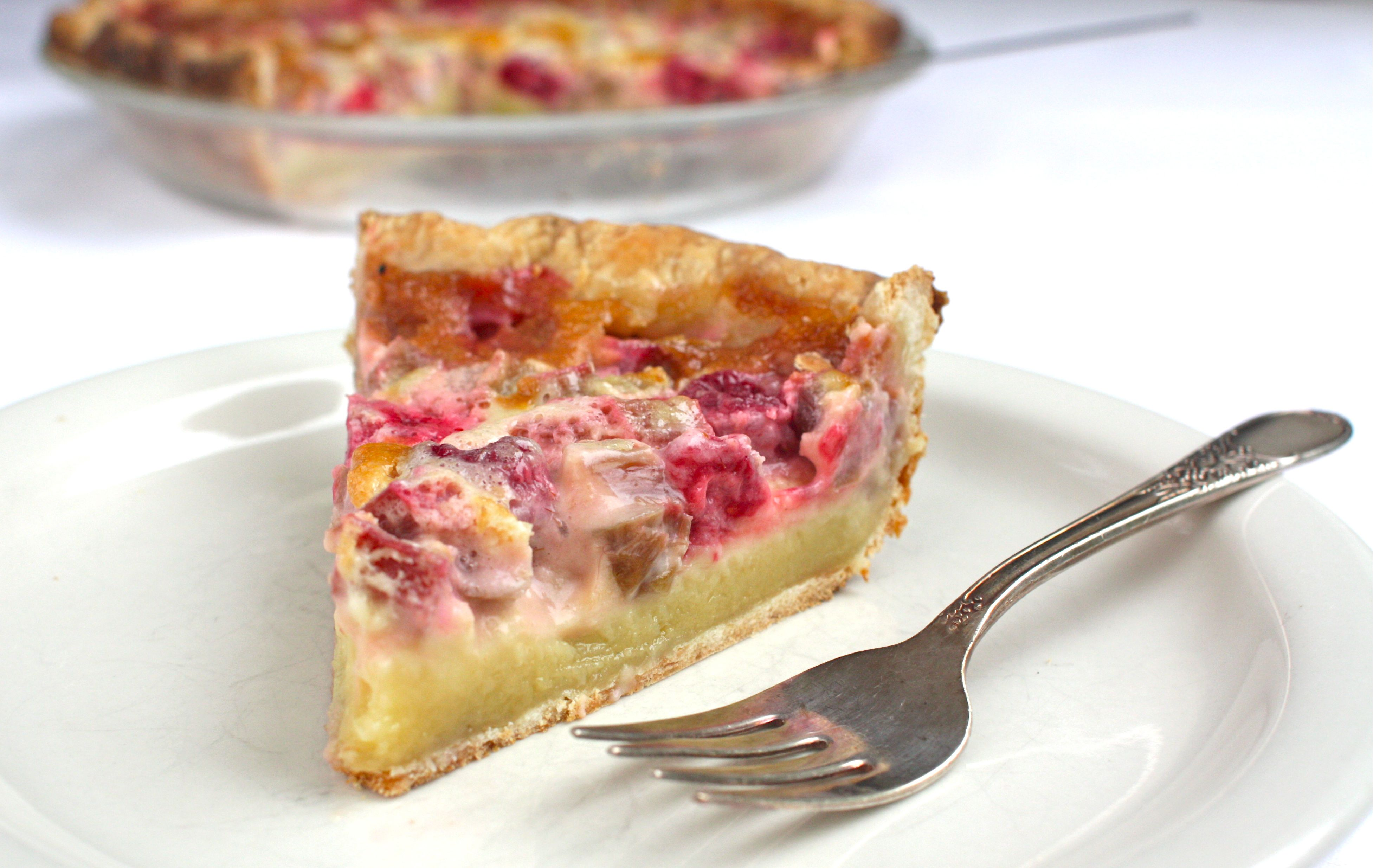 Rhubarb-Raspberry Cream Pie Recipe for a Pie Party | Simple Bites