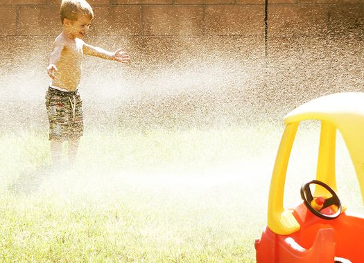 summer sprinklers and popsicles