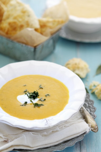 ... great butternut was blending it using fresh apples and apple soup when