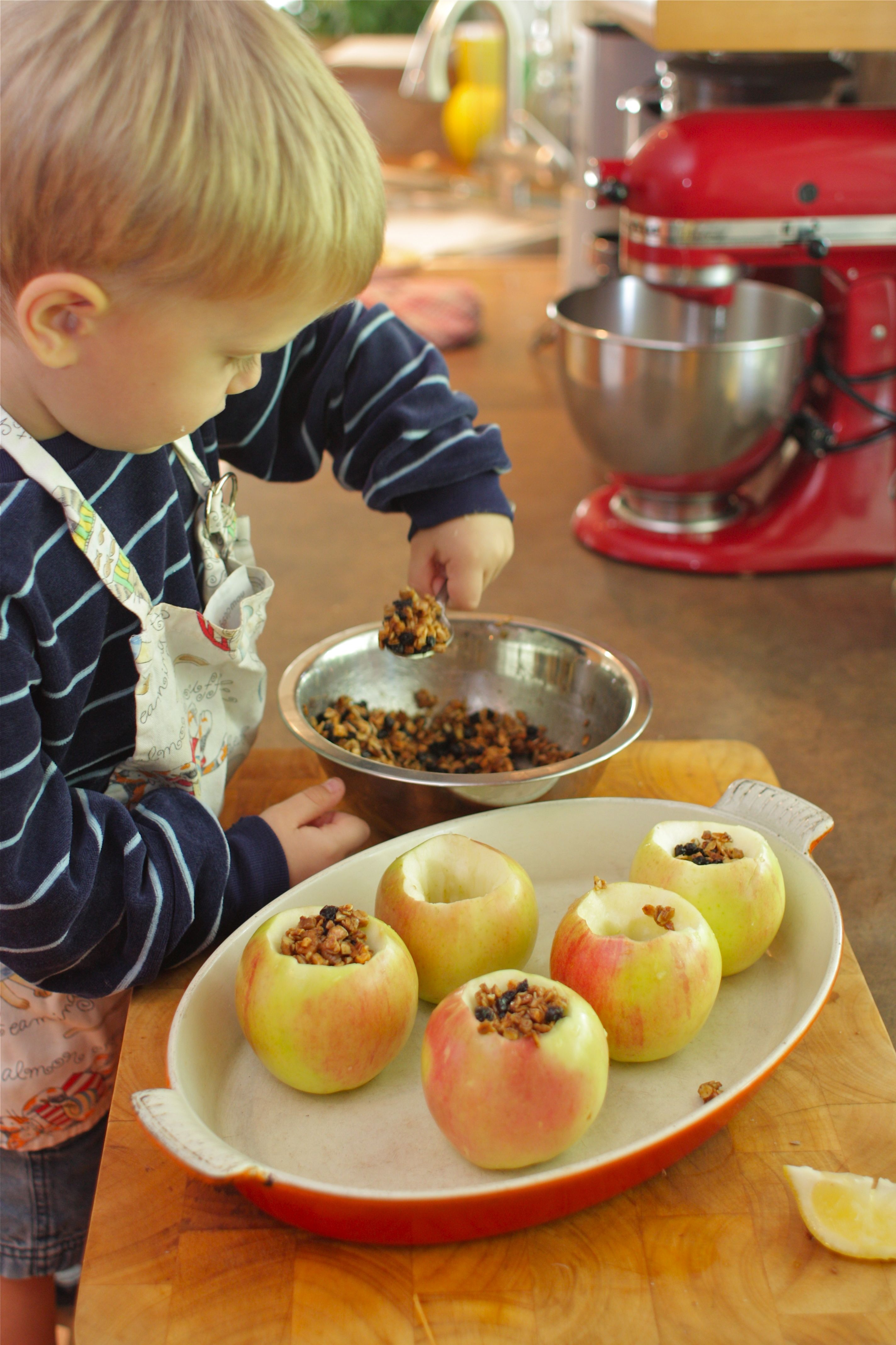 Cooking With Kids Maple Pecan Baked Apples Simple Bites