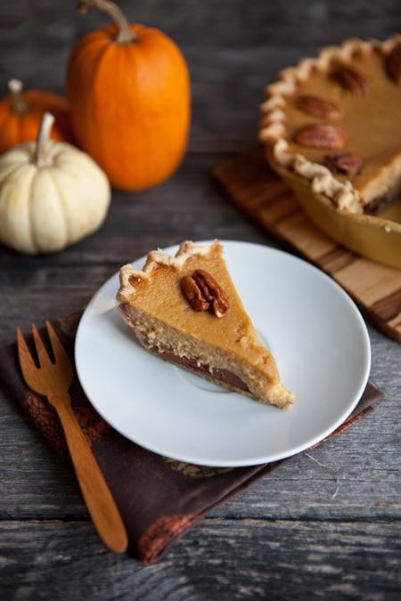 A thanksgiving dessert twist black bottom maple pumpkin for Pumpkin pie with a twist
