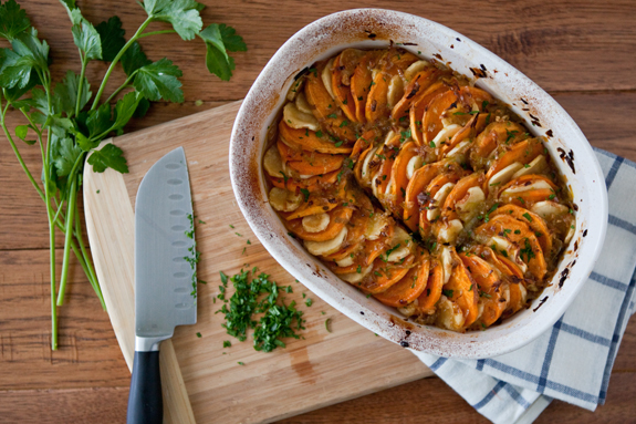 Maple-Roasted Sweet Potatoes and Parsnips Recipe | Simple Bites