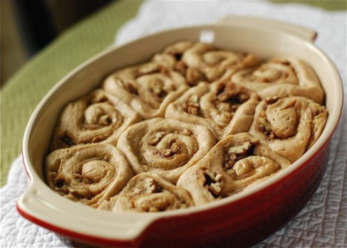 Cinnamon-Pecan Rolls with Vanilla Bean Glaze | Simple Bites