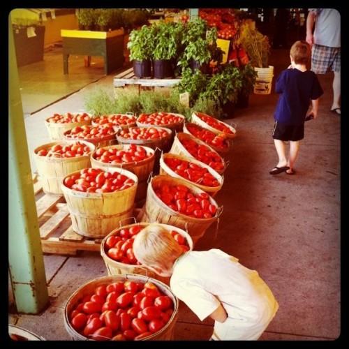 tomatoes at market