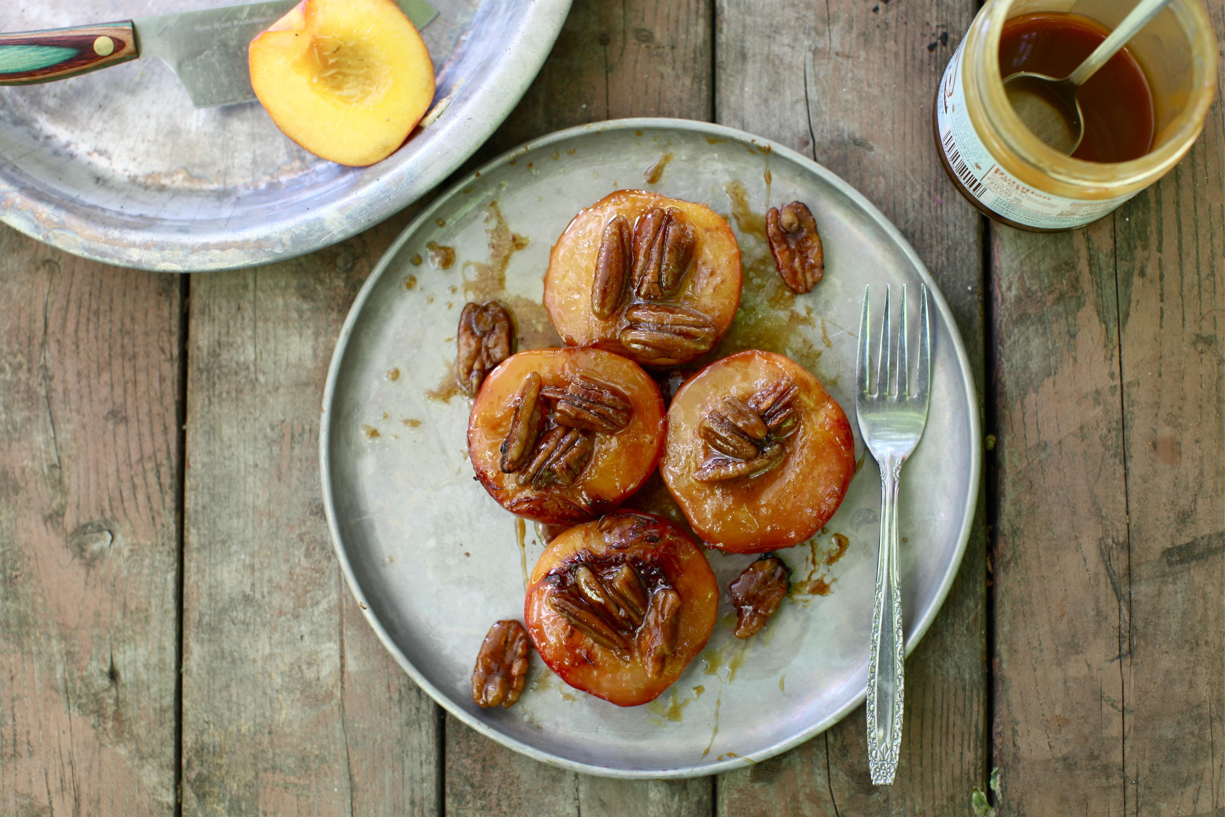 4 Ideas For Campfire Roasted Fruit Recipe Caramel Peaches W