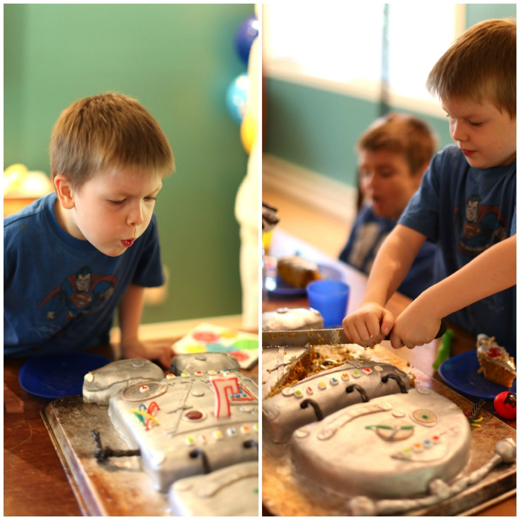 How To Make A Robot Birthday Cake For Kids
