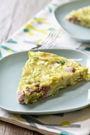 leek and goat cheese frittata