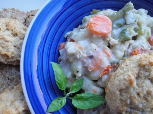 Easy chicken and biscuits pot pie remake 2