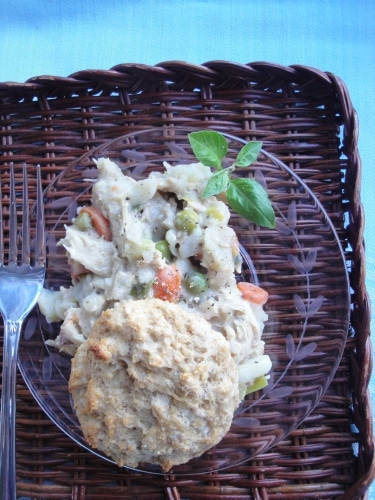 Easy chicken and biscuits pot pie remake 5