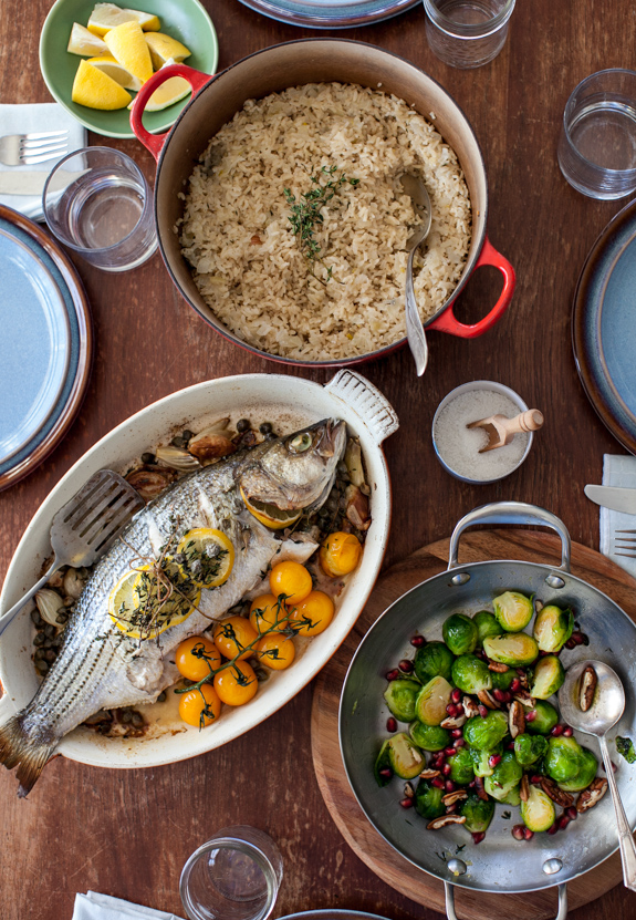 Bringing back sunday dinner new series herb roasted striped bass for forumfinder Image collections