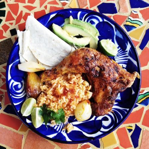 Mexican roast chicken dinner