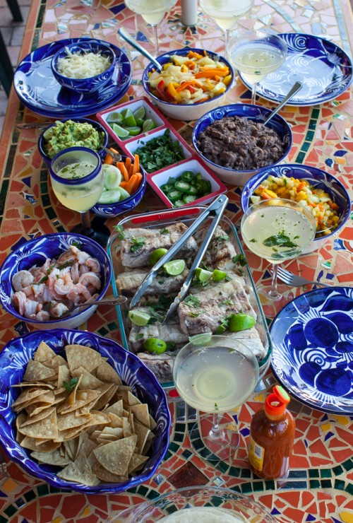 Mexican fiesta tablescape