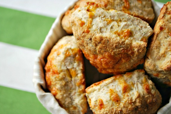 Cheesy Irish Soda Scones