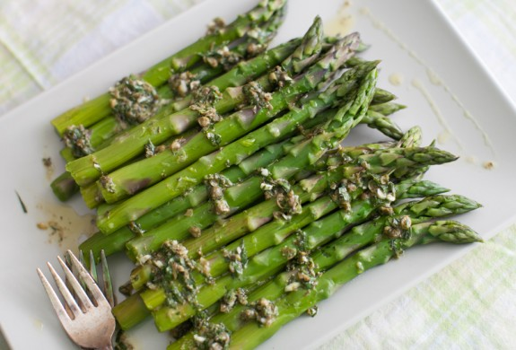 asparagus with mustard vinaigrette-1