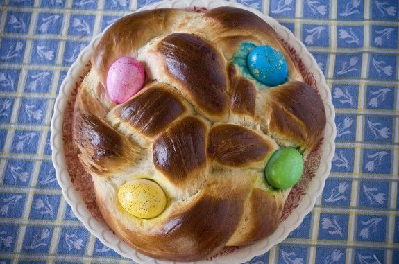 Easter egg braided bread