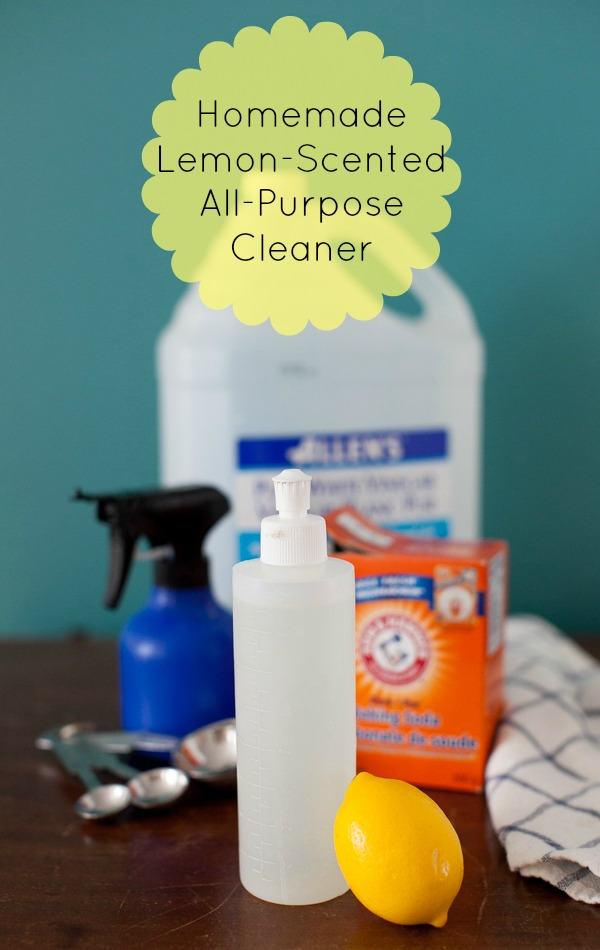 Homemade Lemon Scented All Purpose Cleaner