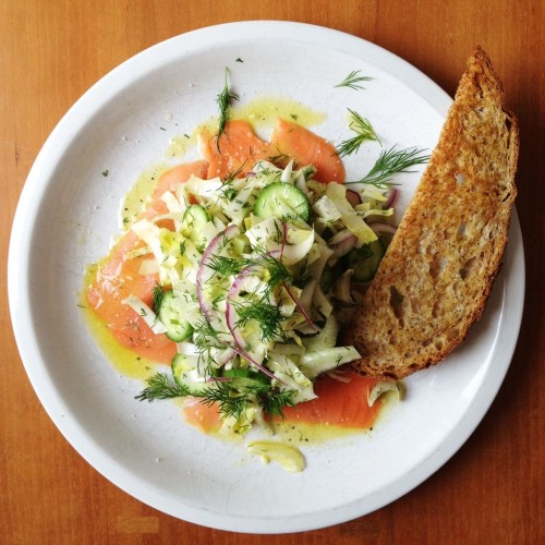 smoked salmon and fennel salad