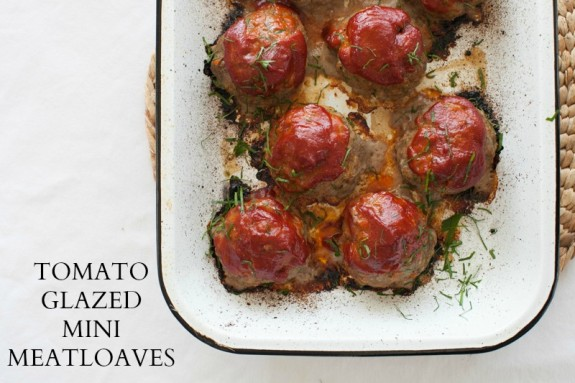 TOMATO-GLAZED MINI MEATLOAVES ON simplebites.net