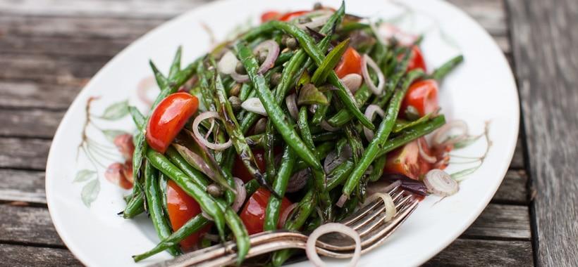 Grilled Green Bean Salad Recipe