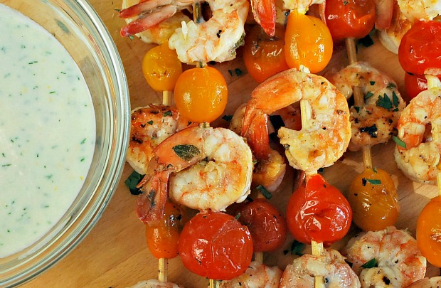 Shrimp & Tomato Kebabs 1