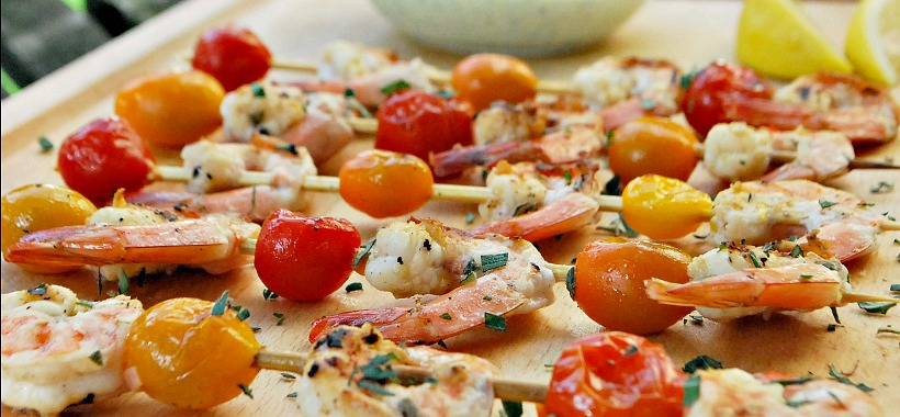 Shrimp & Tomato Kebabs - Header