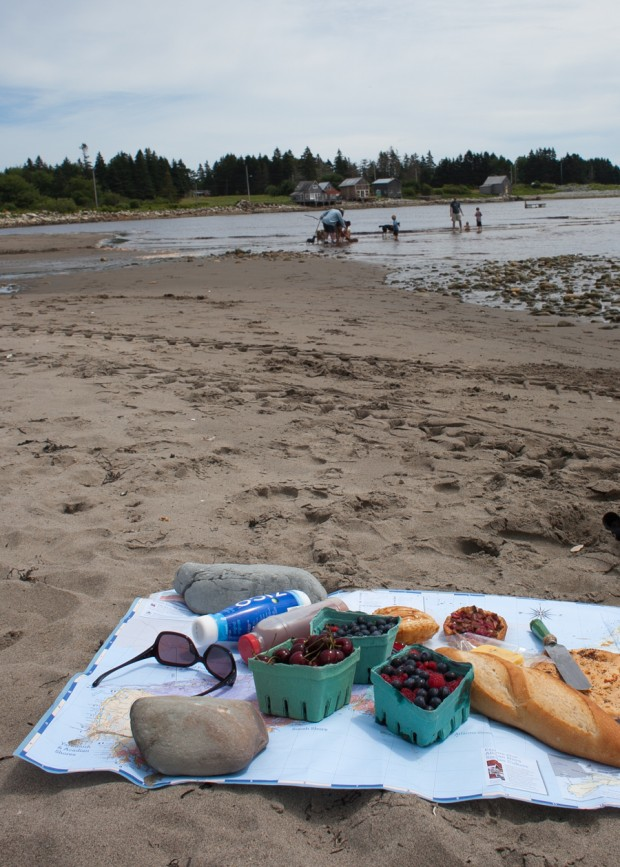 Nova Scotia beach picnic