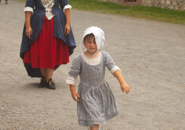 Child at Fortress of Louisburg