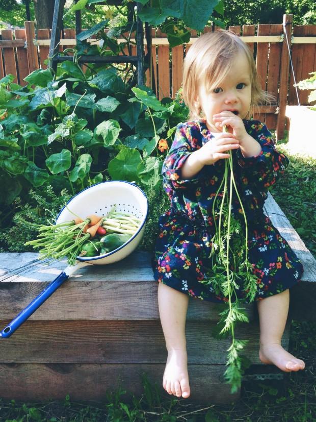 Clara in garden