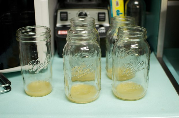 lemon juice in jars
