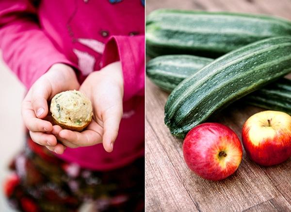zucchini apple muffins 1