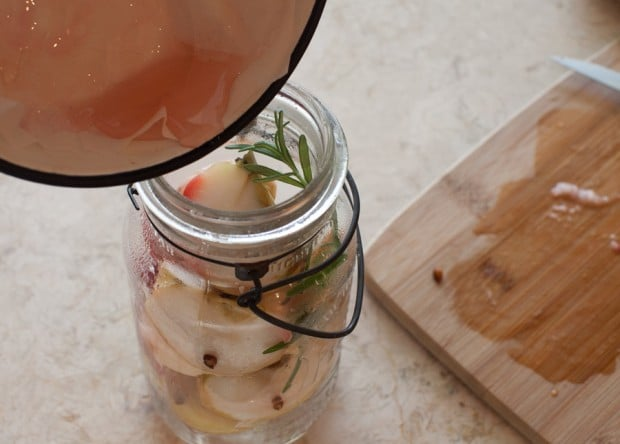 Roasted Apple Rosemary Tisane on www.simplebites.net #apples #tea