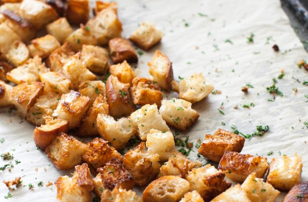 Brown Butter Croutons on www.simplebites.net