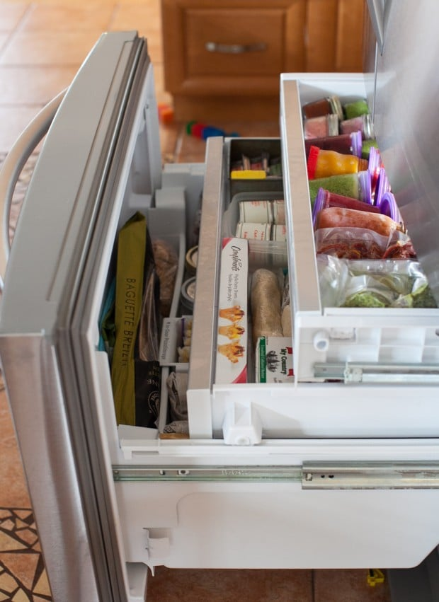 Simple Bites Kitchen Tour: Fridge U0026 Freezer Organization #kitchen #hacks
