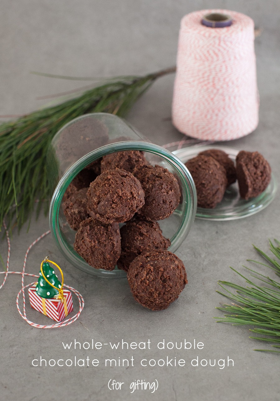 Whole-wheat double chocolate mint cookies (food processor ...