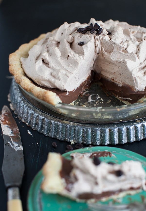Mocha Pie with Espresso Whipped Cream | Simple Bites #pie #mocha #recipe