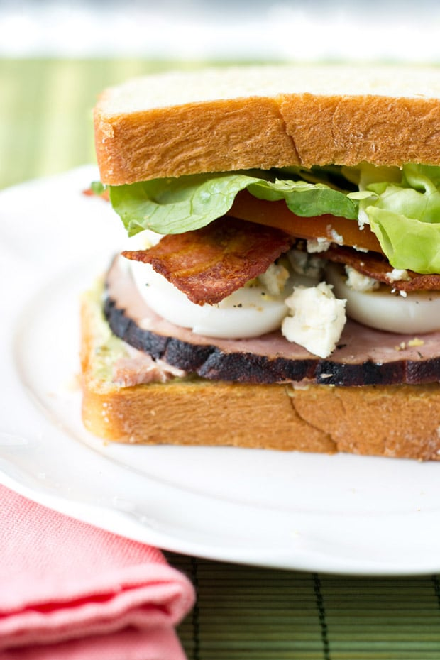 Cobb Salad Sandwich with Avocado Spread