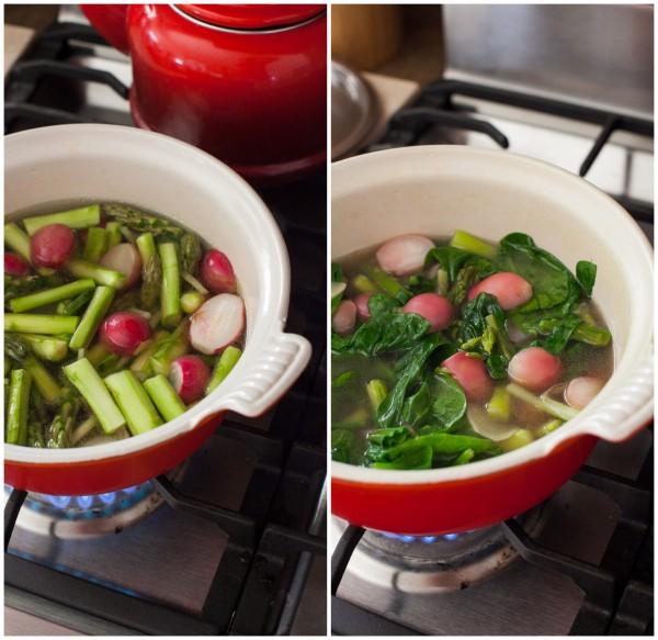 making spring soup