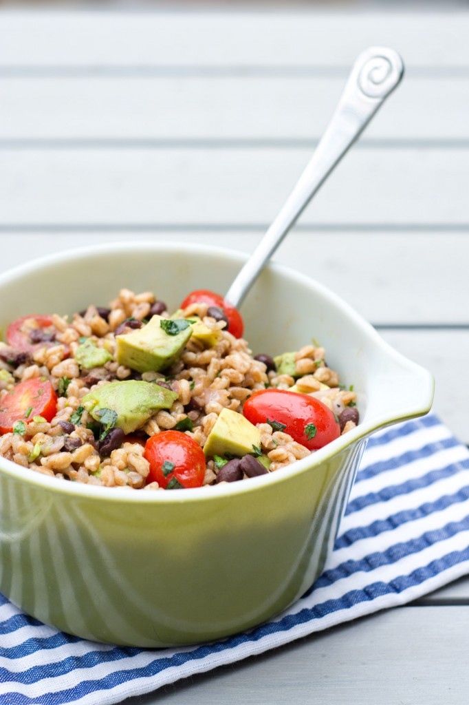 Farro Salad with Lime Vinaigrette